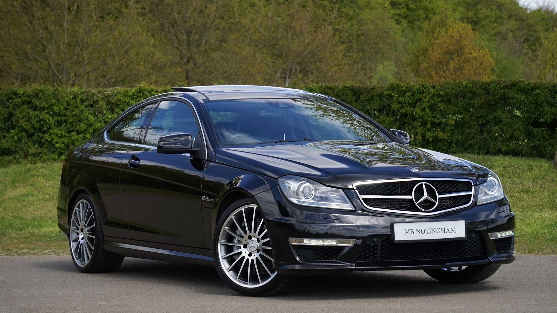 Black Mercedes Benz with MB Nottingham Number plate
